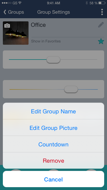 how to delete a group